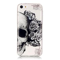 Käyttötarkoitus iPhone X iPhone 8 iPhone 6 iPhone 6 Plus kotelot kuoret IMD Ultraohut Läpinäkyvä Kuvio Takakuori Etui Pääkallot Pehmeä TPU