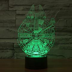 Χαμηλού Κόστους -χιλιετία γεράκι 3d οδήγησε νυχτερινό φως 7colorful λάμπα ατμόσφαιρα διακόσμηση φωτισμός καινοτομία φως