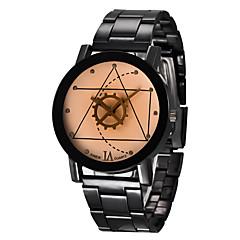 お買い得  大特価腕時計-男性用 リストウォッチ ステンレス バンド チャーム ブラック / シルバー