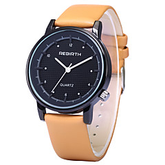 お買い得  大特価腕時計-REBIRTH 男性用 クォーツ リストウォッチ / ホット販売 PU バンド カジュアル ファッション ブラック 白