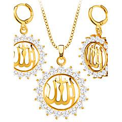 Férfi Női Ékszer készlet Nyaklánc / fülbevaló Kristály utánzat Diamond Divat Kristály Strassz Arannyal bevont Nyakláncok Naušnice