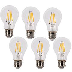 tanie Żarówki LED-6szt 4W 400 lm E26/E27 Żarówka dekoracyjna LED A60(A19) 4 Diody lED COB Wodoodporne Dekoracyjna Ciepła biel Zimna biel AC 220-240V