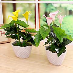 Set of 1 PCS 1 şube PU Kalla Zambağı Masaüstü Çiçeği Yapay Çiçekler 13.7