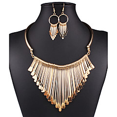 cheap Jewelry Sets-Women's Jewelry Set - Statement, Vintage, Sexy Include Drop Earrings Statement Necklace Bib necklace Gold / Silver For Wedding Party Daily