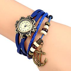 preiswerte Herrenuhren-Damen Armband-Uhr Armbanduhr Quartz Punk / Leder Band Analog Charme Retro Freizeit Schwarz / Weiß / Blau - Grün Rosa Hellblau