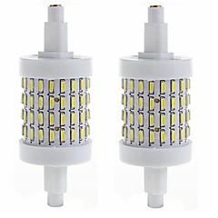 preiswerte LED-Birnen-SENCART 450-500lm R7S LED Mais-Birnen Eingebauter Retrofit 72 LED-Perlen SMD 4014 Dekorativ Warmes Weiß / Kühles Weiß 85-265V / 2 Stück