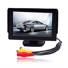 abordables Monitores de Coche-4.3 pulgadas TFT-LCD Monitor de marcha atrás del coche para Coche