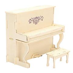 بانوراما الألغاز قطع تركيب3D تركيب خشبي اللبنات DIY اللعب بيانو خشب
