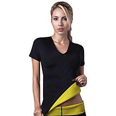 ζεστό διαμορφωτές γυναίκες νεοπρένιο αδυνατίσματος καταρτίσεως t-shirts εφίδρωση shapewear