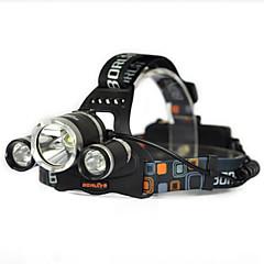 お買い得  LED アイデアライト-1000lm 3倍のxml t6の白い2R2 UVは、ヘッドランプヘッドライトトーチ充電器ベア・マシンを主導しました