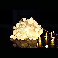 preiswerte LED Lichtstreifen-10m Leuchtgirlanden 100 LEDs LED Diode Warmes Weiß Dekorativ / Verbindbar / Weihnachten 1 set / IP44