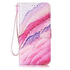 Varten Samsung Galaxy S7 Edge Lomapkko / Korttikotelo Etui Kokonaan peittävä Etui Maisema Kova Tekonahka SamsungS7 edge / S7 / S6 edge /