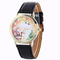 voordelige Bekijk deals-Dames Modieus horloge Polshorloge Dress horloge Kwarts / PU Band Sneeuwvlok  Zwart Wit Blauw Rood Bruin Groen Ivoor Goud Rose