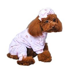 お買い得  猫の服-ネコ 犬 ジャンプスーツ パジャマ 犬用ウェア カートゥン イエロー ブルー ピンク コットン コスチューム ペット用 男性用 女性用 キュート カジュアル/普段着