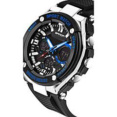 preiswerte Tolle Angebote auf Uhren-SANDA Herrn Sportuhr Smartwatch Armbanduhr Digital Japanischer Quartz 30 m Wasserdicht Chronograph LED Silikon Band Analog-Digital Luxus Freizeit Modisch Schwarz / Silber - Orange Rot Blau Zwei jahr