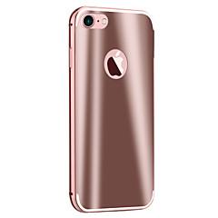 Недорогие Кейсы для iPhone 6 Plus-Кейс для Назначение Apple Кейс для iPhone 5 iPhone 6 iPhone 7 Покрытие Зеркальная поверхность Кейс на заднюю панель броня Твердый Металл