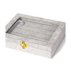 お買い得  ジュエリー用パッケージ&ディスプレイ-方形 ジュエリーボックス  -  ファッション ブラック, ホワイト, ブルー / 女性用