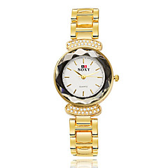 SOXY Dames Dress horloge Modieus horloge Armbandhorloge Kwarts Waterbestendig Strass Legering Band Bangle Goud Rose