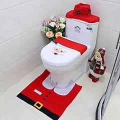 voordelige -nieuwe jaar beste cadeau Happy Christmas Santa toilet seat cover& tapijt badkamer set kerstversiering
