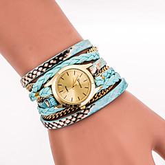 tanie Zegarki damskie-Damskie Kwarcowy Zegarek na nadgarstek Zegarek na bransoletce Kolorowy PU Pasmo Vintage Na co dzień Matowa czerń Artystyczny Modny