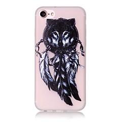 Для Кейс для iPhone 7 / Кейс для iPhone 7 Plus / Кейс для iPhone 6 Сияние в темноте / С узором Кейс для Задняя крышка Кейс для Сова Мягкий