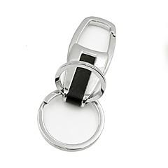 abordables Llaveros-ziqiao coche de metal de las llaves normales regalo de la cadena dominante del anillo noble para el peinado del coche