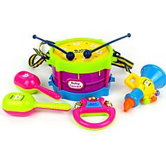 voordelige muziekdoos-Drumstel Tamboerijn Luidspreker Handbellen Educatief speelgoed Drumstel Klassiek Muovi ABS 5pcs Kinderen Jongens Geschenk