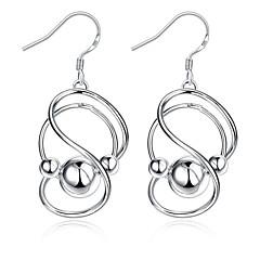 Dames Druppel oorbellen Modieus Europees Kostuum juwelen Sterling zilver Verzilverd Legering Geometrische vorm Oneindigheid Sieraden Voor