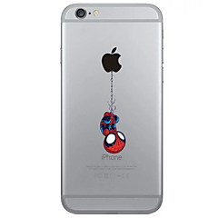 Para iPhone X iPhone 8 iPhone 6 iPhone 6 Plus Carcasa Funda Transparente Cubierta Trasera Funda Logo Playing With Apple Suave TPU para