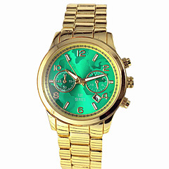 Dames Dress horloge Modieus horloge Armbandhorloge Kwarts Kalender Legering Band World Map Patroon Goud Zwart Rood Groen Blauw Roze