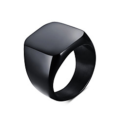 Men's Fashion Simple Style Vintage 316L Titanium Steel Personality Statement Rings Casual/Daily Accessory Gifts