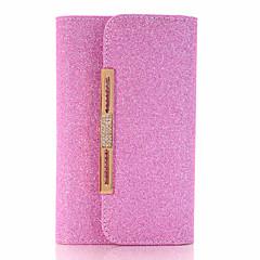 Для Кошелек / Бумажник для карт / со стендом / С узором Кейс для Чехол Кейс для Один цвет Твердый Искусственная кожа AppleiPhone 7 Plus /