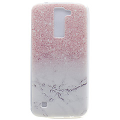 For LG K10 K8 Transparent Pattern Case Back Cover Case Marble Soft TPU K7 Nexus 5X X Power