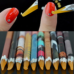 1PCS Manicure Tools With Sticky Point Drill Color Random