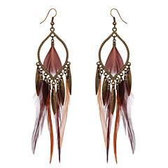 Χαμηλού Κόστους Σκουλαρίκια-Γυναικεία Κρεμαστά Σκουλαρίκια κοστούμι κοστουμιών Φτερό Κράμα Φτερά / Φτερό Κοσμήματα Για Πάρτι Causal