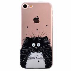 Недорогие Кейсы для iPhone 5-Кейс для Назначение Apple Кейс для iPhone 5 iPhone 6 iPhone 7 Ультратонкий С узором Кейс на заднюю панель Кот Мягкий ТПУ для iPhone 7
