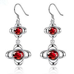 preiswerte Ohrringe-Damen Synthetischer Diamant Tropfen-Ohrringe - Sterling Silber, versilbert Modisch Silber Für Party / Alltag / Normal