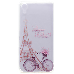 Til Sony Xperia x gennemsigtigt mønster etui bagcover cover eiffel tower soft tpu sony xperia x