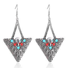 billige Øreringe-Dame Dråbeøreringe Turkis Personaliseret Sølv Harpiks Legering Trekant Smykker Fest Daglig Afslappet Kostume smykker