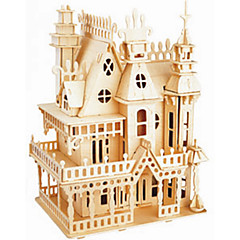 Puzzles Holzpuzzle Bausteine DIY Spielzeug Schloss 1 Holz Elfenbein