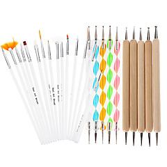 25db diy köröm tervezés festés pontozás toll köröm rajz önálló tervezési kefék manikűr köteg szerszámkészlet készlet