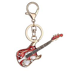 les ventes directes nouvelle usine de cadeau d'anniversaire du jour de réaliste clé de guitare porte-clés de la chaîne sac voiture clé