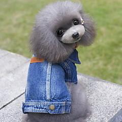 お買い得  犬用ウェア&アクセサリー-犬 デニムジャケット 犬用ウェア ジーンズ ブルー デニム コスチューム ペット用 男性用 女性用 キュート カウボーイ ファッション