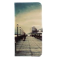 billige iPhone 5-etuier-Etui Til Apple iPhone 5 etui iPhone 6 iPhone 7 Kortholder Pung Med stativ Flip Mønster Fuldt etui Byudsigt Hårdt PU Læder for iPhone 7