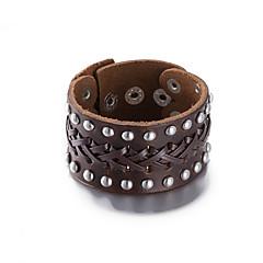 preiswerte Armbänder-Armreife - Leder Europäisch, Modisch Armbänder Schwarz / Braun Für Weihnachts Geschenke Hochzeit Geburtstag