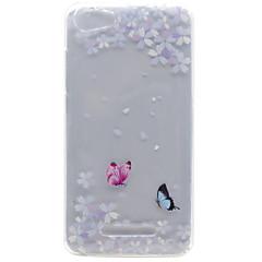 For wiko lenny 3 lenny 2 sommerfugl blomstermønster høj gennemtrængelighed tpu materiale telefon shell til wiko lenny 2 lenny 3 pulp fab 4g