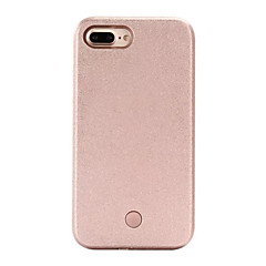 olcso iPhone 5S / SE tokok-Case Kompatibilitás Apple iPhone 5 tok iPhone 6 iPhone 7 LED Fekete tok Tömör szín Kemény PC mert iPhone 7 Plus iPhone 7 iPhone 6s Plus