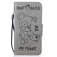 Varten iPhone 7 kotelo / iPhone 6 kotelo / iPhone 5 kotelo Lomapkko / Korttikotelo / Tuella / Kuvio / Koristeltu Etui Kokonaan peittävä