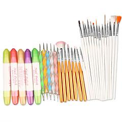 manikűrkészlet szerszám 3 az 1-ben köröm design meg pontozás rajzolás festés lakk ecsettel toll