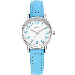 お買い得  レディース腕時計-KEZZI 女性用 ファッションウォッチ / リストウォッチ クール / / レザー バンド カジュアル ブラック / ブルー / グレー